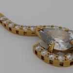Pear Shaped Diamond Pendant Blend File