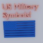 US Military Symbols in 3D Models