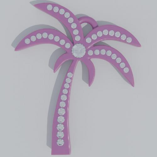 palmtree with diamonds